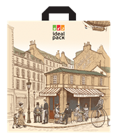 Taška LDPE s uchem  45x49 cm Paris ideal pack®
