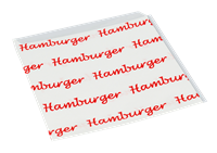 Sáček pap. na hamburger 16x16 cm ideal pack®